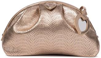 Alaia Samia 26 laser-cut leather clutch
