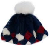 Moncler diamond pattern hat