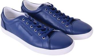 Dolce & Gabbana Navy Leather Trainers