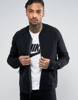 Nike Tech Knit Bomber Jacket In Black 832178-010