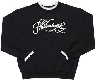 Philosophy di Lorenzo Serafini Logo Embroidered Cotton Blend Sweatshirt