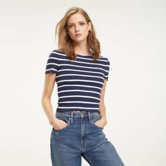 Tommy Hilfiger Stripe Fitted T-Shirt