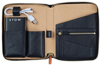 Stow Mini First Class Leather Tech Case