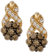 LeVian Le Vian Chocolatier® Diamond Cluster Stud Earrings (1/2 ct. t.w.) in 14k Gold
