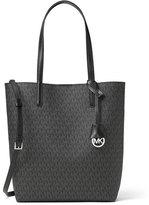 MICHAEL Michael Kors Hayley Large North-South Logo-Print Tote Bag, Black/Gray