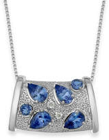 Macy's Tanzanite (1-3/4 ct. t.w.) and Diamond Accent Pendant Necklace in Sterling Silver