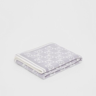 Burberry B Motif Cotton Merino Wool Cashmere Baby Blanket