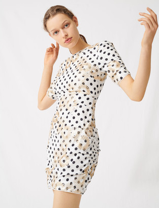 Maje Polka dot and embroidered sequin dress
