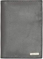 Calvin Klein Men's Pebble Leather Folding Card Case