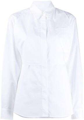 MM6 MAISON MARGIELA back tie fastening buttoned shirt