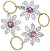 Cathy Waterman Pink Tourmaline Peacock Flower Bracelet