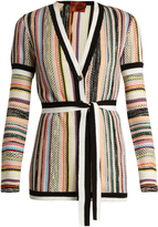 Missoni Striped textured-knit cardigan