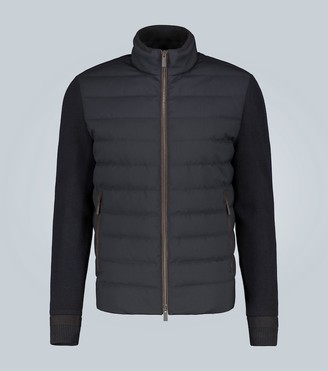 Ermenegildo Zegna Short knit and padded jacket