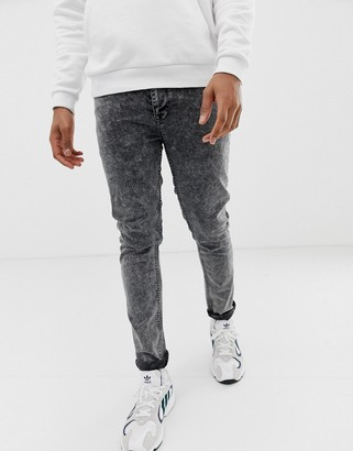 Asos Design DESIGN skinny jeans in acid wash black
