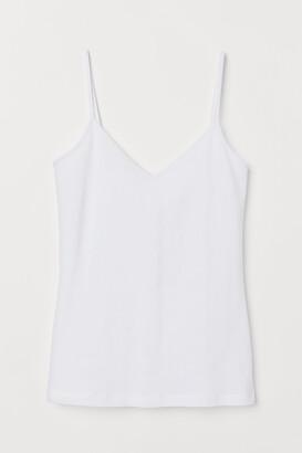 H&M V-neck Cotton Tank Top