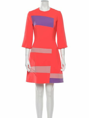 Roksanda Colorblock Pattern Mini Dress Orange