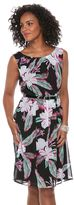 Connected Apparel Women's Floral Fit & Flare Dress