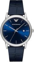 Emporio Armani Men's Luigi Blue Leather Strap Watch 43mm AR2501