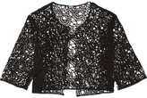Lela Rose Cotton-blend corded lace jacket