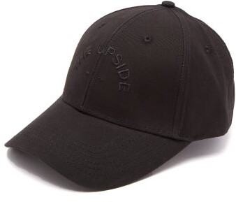 The Upside Logo Embroidered Cotton Cap - Womens - Black