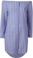 Equipment striped off shoulder dress - women - Cotton - XS