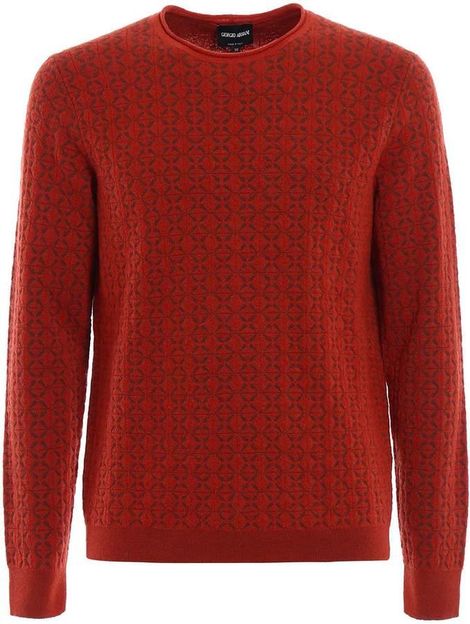 Giorgio Armani Patterned Sweater