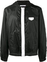 Givenchy hooded lightweight jacket - men - Calf Leather/Polyamide - 52