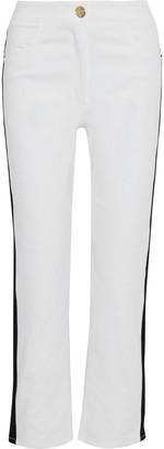 Balmain Striped High-rise Straight-leg Jeans