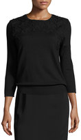 Magaschoni Signature Relaxed High-Low Faux-Wrap Skirt, Black