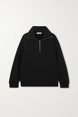Ninety Percent Net Sustain Organic Cotton-jersey Sweatshirt - Black