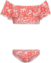 Lisa Marie Fernandez Red and White Leandra Floral Bikini