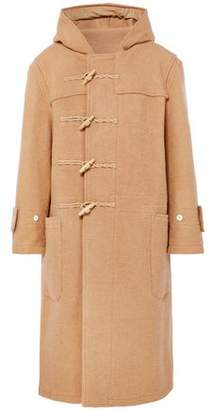 R 13 Brushed Wool-felt Hooded Coat
