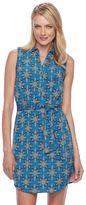 Dana Buchman Women's Sleeveless Shirt Dress