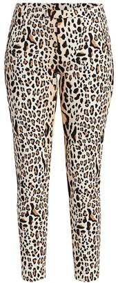 ATM Anthony Thomas Melillo Leopard-Print Slim Jeans