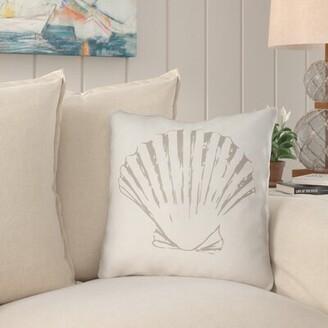 "Beachcrest Home Brookline Shells II Indoor/Outdoor Throw Pillow Size: 18"" H x 18"" W x 4"" D, Color: Green"