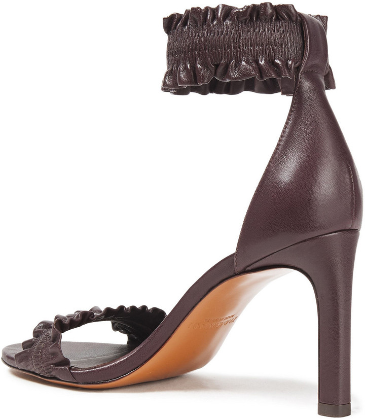 Thumbnail for your product : Zimmermann Elastic Strap Ruffled Leather Sandals