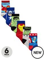 Marvel Avengers 6 Pack Of Boys Socks