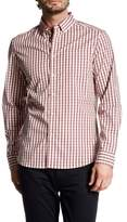 Kenneth Cole New York Long Sleeve Check Trim Fit Shirt