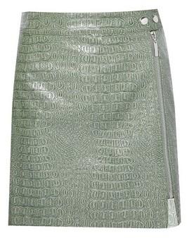 Dorothy Perkins Womens Lola Skye Green Pu Zip Skirt, Green