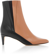 Atelier Atp ATP Nila Two-Tone Leather Ankle Boots