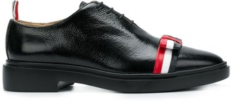 Thom Browne Leather Bow Pebble Grain Shoe