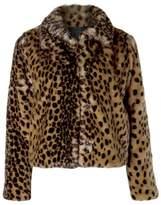Dex Fuzzy Leopard Jacket