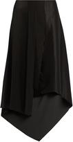 Elizabeth and James Sydney asymmetric-hem silk-satin skirt