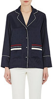 Derek Lam 10 Crosby Women's Jacquard Silk-Blend Pajama-Inspired Top