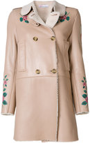 RED Valentino rose embroidered coat