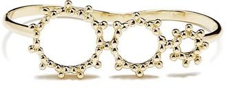 Agnes de Verneuil Graduated Sun Double Ring - Gold