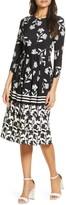 Eliza J Floral Print Fit & Flare Jersey Dress