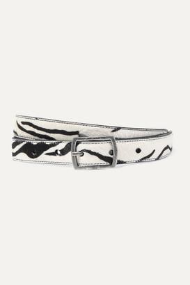Saint Laurent Zebra-print Calf Hair Belt - Zebra print