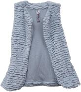Knitworks KNIT WORKS Girls Fuzzy Vest Set