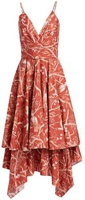 Johanna Ortiz Cacatua Tiered Skirt Dress